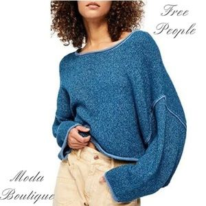Free People Pullover Oversized Cropped Sweater